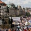 Czechs stage mass rally in protest against government